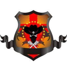 Western skull vector