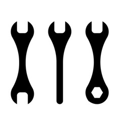 Wrenches black vector