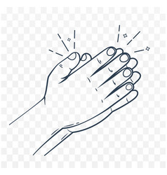 icon hands in prayer linear style vector image vector image