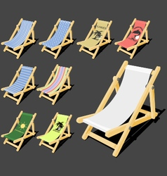 Isolated deck chair vector