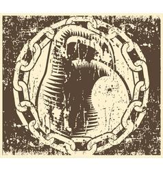 old school gym vector image vector image