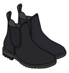 black pear boots vector image vector image