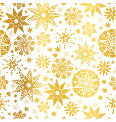 golden abstract doodle stars seamless vector image vector image