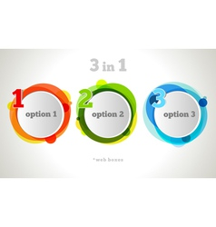 Graphic Design Button and Labels Template vector image vector image