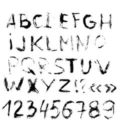 Grunge letters handdrawn font Letters of vector image vector image