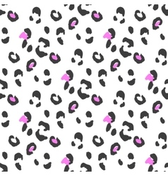 Leopard or cheetah seamless skin pattern vector image vector image