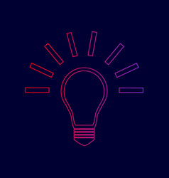 light lamp sign line icon with gradient vector image