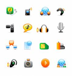 multimedia icons vector image vector image