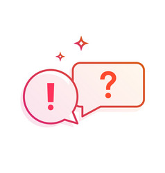 question and answer speech bubbles icon gradient vector image vector image