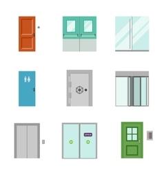 Set of doors icons vector image