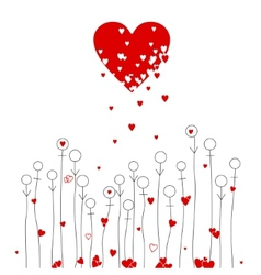 Love and flowers vector image