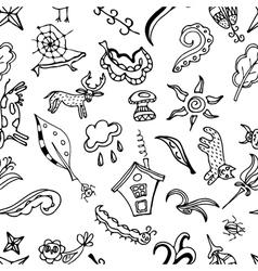 seamless pattern doodling design Kids Doodle vector image vector image