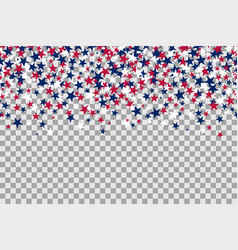 seamless pattern with stars for memorial day vector image