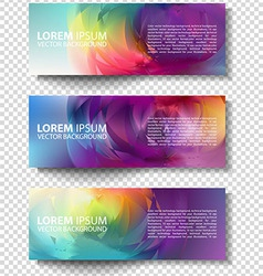 colorful progress banners collection vector image