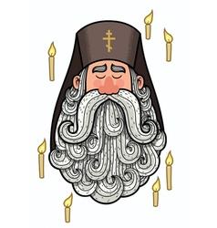 Orthodox Priest vector image vector image
