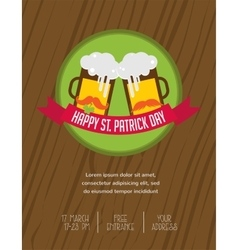 St patricks day pub and party invitation vector