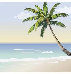 Vintage beautiful Sunset Seaside card vector image vector image