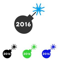 2016 petard flat icon vector