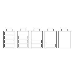 a set of five batteries vector image