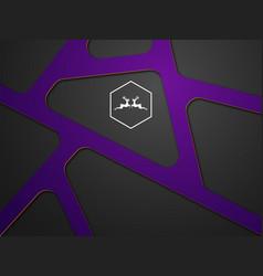 Abstract purple modern on black vector