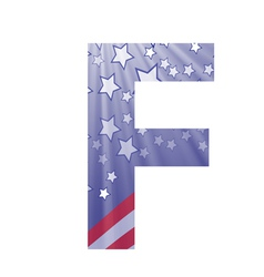 American letter F vector