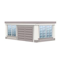 Architecture design for garage vector