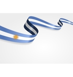 Argentinean flag background vector