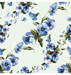 Blue flowers 6 vector