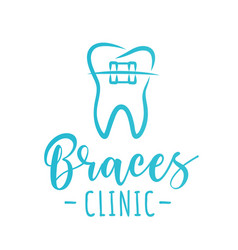 Braces clinic design concept vector