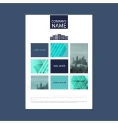 Brochure template design Concept of architecture vector image