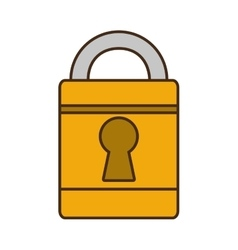 cartoon padlock lock security money bank vector image