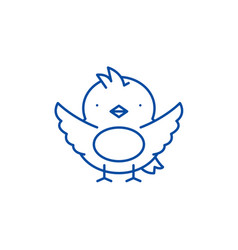 chick line icon concept chick flat symbol vector image