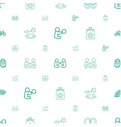 Children icons pattern seamless white background vector