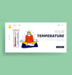Climate control air conditioning tranquil vector