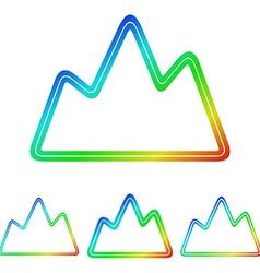 Colorful mountain exploration logo design set vector