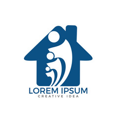 community home logo design vector image