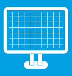 Computer monitor icon white vector