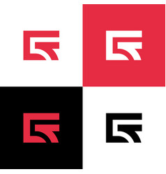 Ct letter logo concept minimal monogram design vector