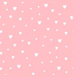 Cute romantic hearts pattern vector