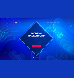 dark blue diamond liquid color background design vector image