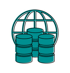 Data center or web hosting icon image vector