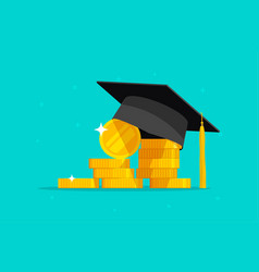 Education and money flat vector