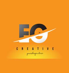 Eg e g letter modern logo design with yellow vector