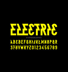 electric style font vector image