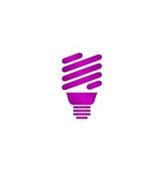 Energy saving fluorescent light bulb icon vector
