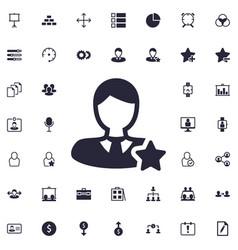 Favorite user icon vector