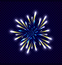 festive colorfu firework design vector image