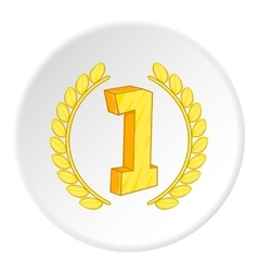 First place icon cartoon style vector