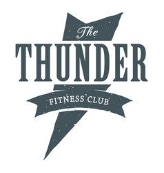 Fitness the thunder image vector