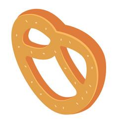 fresh hot pretzel icon isometric style vector image